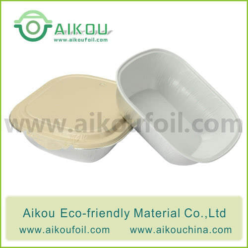 Disposable airliner food container Alu09-6 250ML