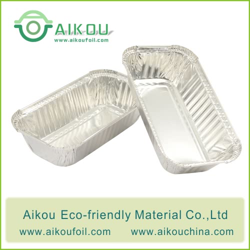 Disposable wrinkled foil loaf pan Alu1650 520ML