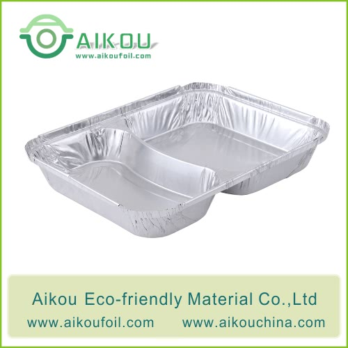 two compartments food tray