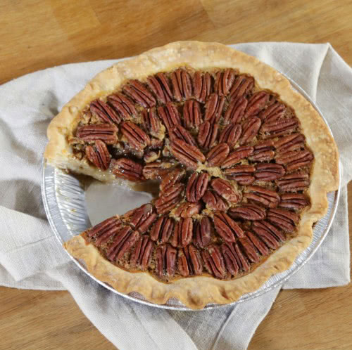 Foil Pie Pan Baking- Pecan Pie